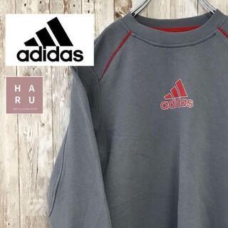 アディダス(adidas)のアディダス adidas ロゴ入りトレーナー スウェット 140サイズ グレー(パーカー)