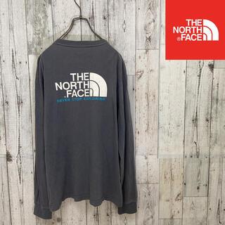 ザノースフェイス(THE NORTH FACE)のノースフェイス ロングTシャツ グレー メンズM(Tシャツ/カットソー(七分/長袖))