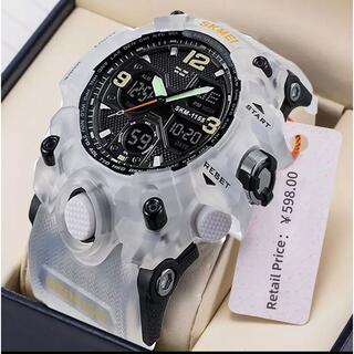 国内未発売☆高品質高機能SKMEI スポーツウォッチ。50M防水 新品(腕時計(アナログ))