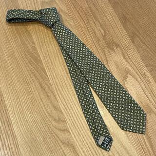 タイユアタイ(TIE YOUR TIE)のタイユアタイ ネクタイ 細身7.5cm位 コットン100% グリーン系 超美品(ネクタイ)