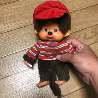 モンチッチ  赤いボーダーシャツを着た男の子(ぬいぐるみ)