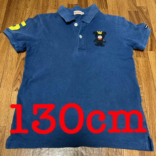 ミキハウス(mikihouse)のmikihouse ネイビーポロシャツ 130cm(Tシャツ/カットソー)