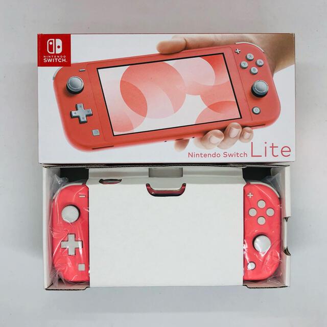 Nintendo Switch(ニンテンドースイッチ)のSwitch Lite (コーラル)本体 エンタメ/ホビーのゲームソフト/ゲーム機本体(携帯用ゲーム機本体)の商品写真
