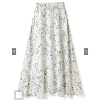 GRL - 手書き風花柄フレアスカート グレイル grl  Sサイズ ホワイト