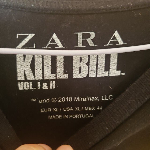 ZARA(ザラ)のザラ KILLBILL Tシャツ 黒     zara メンズのトップス(Tシャツ/カットソー(半袖/袖なし))の商品写真
