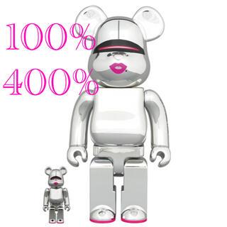 メディコムトイ(MEDICOM TOY)のBE@RBRICK SORAYAMA 2G SILVER 400% & 100%(フィギュア)