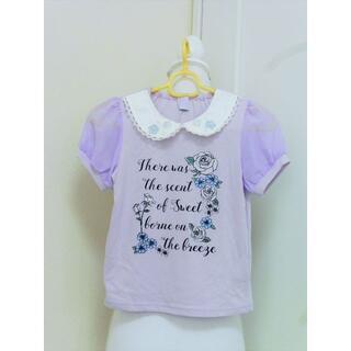 axes femme - y164❤axes femme KIDS シフォンパフスリーブローズカットソー❤