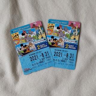 ディズニー(Disney)のディズニーリゾートライン2日間フリー券 2枚組 未使用(鉄道乗車券)