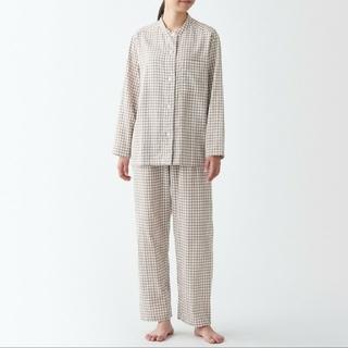 ムジルシリョウヒン(MUJI (無印良品))の脇に縫い目のない 二重ガーゼスタンドカラーパジャマ レディースL~XL(パジャマ)