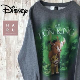 ディズニー(Disney)のディズニー ライオンキング プリントトレーナー スウェット グレー 灰色(スウェット)