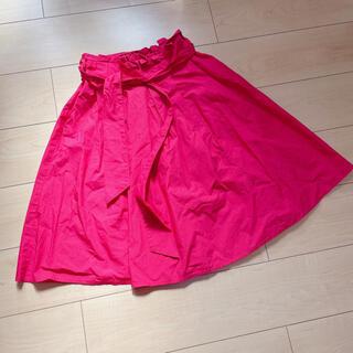 オリーブデオリーブ(OLIVEdesOLIVE)のOLIVE des OLIVE ピンクスカート(ひざ丈スカート)
