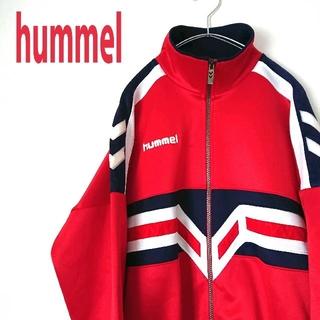 hummel - 90s  hummel ヒュンメル ジャージ赤 トラックジャケット  古着