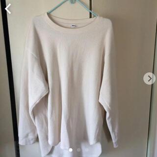 ユニクロ(UNIQLO)のユニクロワッフルTシャツ(Tシャツ(長袖/七分))
