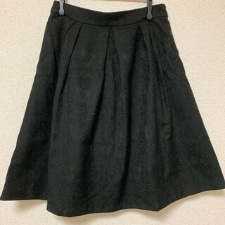 アストリアオディール(ASTORIA ODIER)の花柄総レース 黒 フレアスカート(ひざ丈スカート)