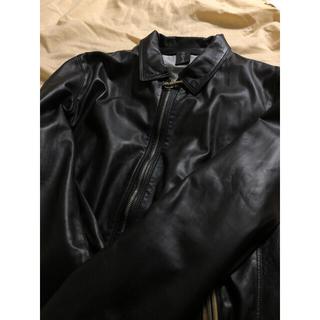 ユナイテッドアローズ(UNITED ARROWS)の【定価12.8万】新品 Delan ライダース 48(M~Lサイズ相当)  黒(ライダースジャケット)