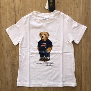 ラルフローレン(Ralph Lauren)のラルフローレン キッズ Tシャツ 白 星条旗 ポロベア 子供服(Tシャツ/カットソー)