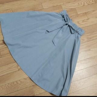 オリーブデオリーブ(OLIVEdesOLIVE)のOLIVE  de  OLIVE  リボンフレアースカート(ひざ丈スカート)