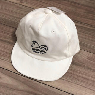 シマムラ(しまむら)のスヌーピー キャップ 帽子 白 しまむら 50 新品 バースデイ peanuts(帽子)