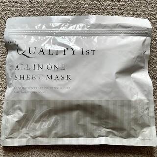 クオリティファースト(QUALITY FIRST)の【新品未使用】クォリティーファースト オールインワンシートマスク ホワイト30枚(パック/フェイスマスク)