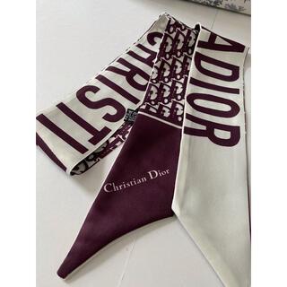 ディオール(Dior)のロゴ柄 スカーフ ボルドー (バンダナ/スカーフ)