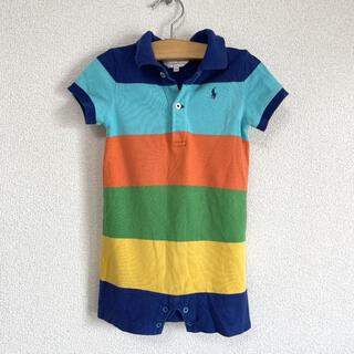 ラルフローレン(Ralph Lauren)のラルフローレン ロンパース カバーオール ボーダー 半袖 綿 80(ロンパース)