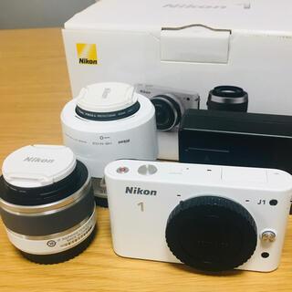 ニコン(Nikon)のさぶくん様専用*Nikon NIKON 1 J1 Wズームキット(ミラーレス一眼)