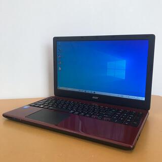★人気の赤!美品!Acerのノートパソコン