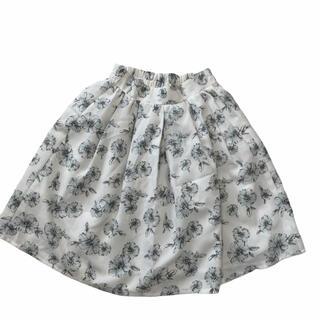 オリーブデオリーブ(OLIVEdesOLIVE)のオリーブデオリーブ 花柄 フレアスカート 膝上 M  フェミニン(ひざ丈スカート)