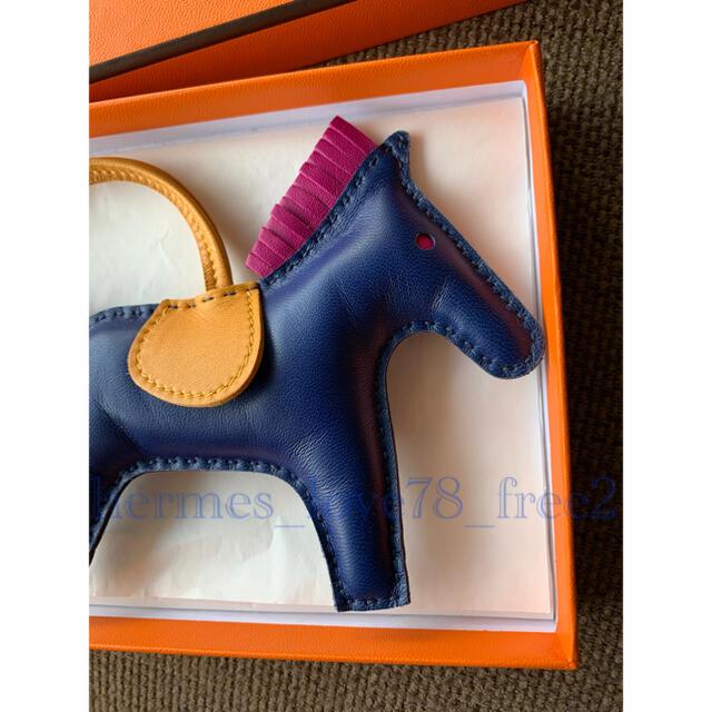 Hermes(エルメス)の極美品 エルメス ロデオチャームmm ブルーサフィール  ハンドメイドのファッション小物(バッグチャーム)の商品写真