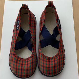 ファミリア(familiar)の☆ファミリア☆ 靴 スリッポン 17cm ファミリアチェック(スリッポン)