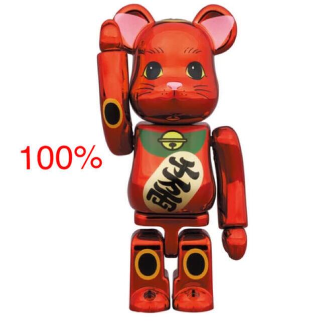 MEDICOM TOY(メディコムトイ)のBE@RBRICK 招き猫 梅金メッキ 100% エンタメ/ホビーのフィギュア(その他)の商品写真