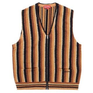 シュプリーム(Supreme)のSupreme Stripe Sweater Vest Brown M(ニット/セーター)