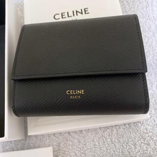 セリーヌ(celine)のセリーヌ CELINE 財布 ブラック 二つ折り 黒(財布)