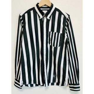uniform experiment - 6152 ユニフォームエクスペリメント ストライプ BD 長袖 シャツ 日本製
