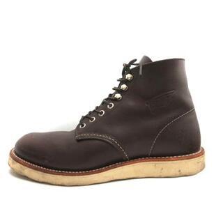 レッドウィング(REDWING)のレッドウィング USA8 26cm クラシックワーク 6 ブーツ 茶 8134(ブーツ)