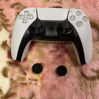プレイステーション(PlayStation)のPS5用 コントローラー DualSense ホワイト アタッチメント付(その他)