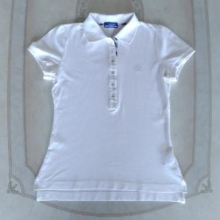 BURBERRY BLUE LABEL - バーバリー 白 鹿の子 ポロシャツ 38