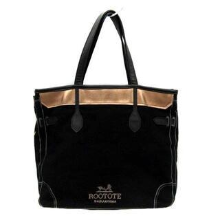 ROOTOTE - ルートート rootote トートバッグ ハンドバッグ キャンバス ロゴ 黒