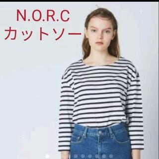 DEUXIEME CLASSE - N.O.R.C  ノーク ボーダーカットソーTシャツ ネイビー 2