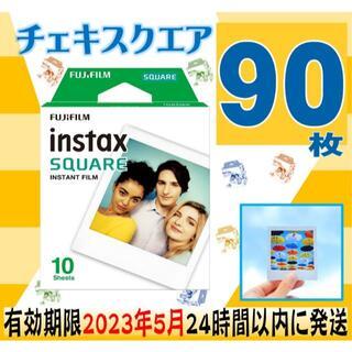 フジフイルム(富士フイルム)の特価instaxSQUAREチェキフィルムスクエア90枚有効期限23年3月(フィルムカメラ)