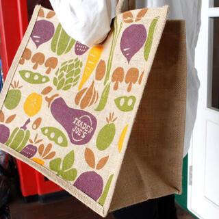 トレーダージョーズ 麻 エコバッグ トートバッグ 新品 野菜