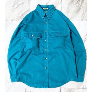 ヨウジヤマモト(Yohji Yamamoto)のvintage 90s エメラルドグリーン ブルー 青 シャモアクロス シャツ(シャツ)