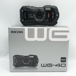 リコー(RICOH)のRICOH 防水デジタルカメラ RICOH WG-40 ブラック(コンパクトデジタルカメラ)