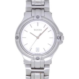 グッチ(Gucci)のグッチ   9040M クオーツ ステンレススチール  シルバー(腕時計(アナログ))