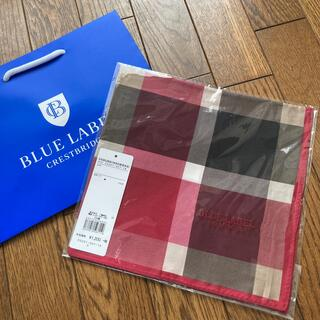 BURBERRY BLUE LABEL - 新品 ブルーレーベルクレストブリッジ ハンカチ 赤チェック柄