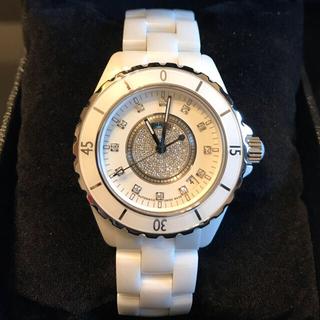 シャネル(CHANEL)のMIKO様専用 シャネル J12 38mm ホワイト オートマチック ダイヤ(腕時計(アナログ))