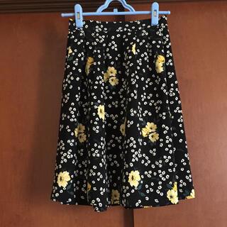 インデックス(INDEX)の【美品】index 花柄スカート(ひざ丈スカート)