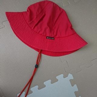 モンベル(mont bell)のmont-bell  キッズ  51~54cm  あご紐付きハット  赤(帽子)