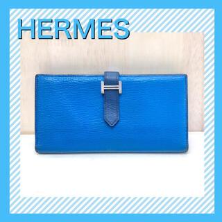 Hermes - 【美品】HERMES 財布/ベアンスフレ 長財布 マチあり