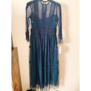 フレイアイディー(FRAY I.D)の新品フレイアイディーレースドレス ワンピース(ロングドレス)